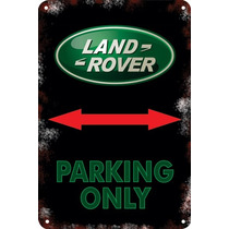 Carteles Antiguos Chapa 60x40 Parking Only Land Rover Pa-55