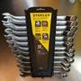 Juego De 12 Llaves Combinadas Acodadas Métricas Stanley