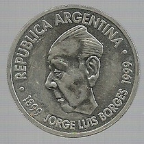 Argentina Moneda 2 Pesos Borges 1999 Sin Circular