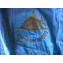 Remera Levis Original Azul Acero Shark Marron Talle M