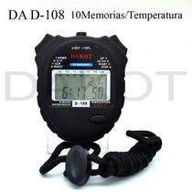 Cronómetro Deportivo Dakot De Mano 10 Memorias Termómetro Wp