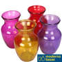 Floreros Vidrio Rayado Colores Moderno Bazar