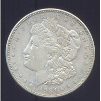 Usa Dolar Morgan 1921 Letra D Plata Excelente Silver Dollar