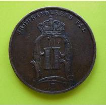 Suecia-5 Ore Bronce 1875 Estado Xf.