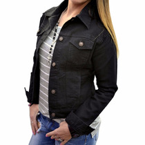 Campera De Jean Negra Mujer The Big Shop