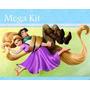 Kit Imprimible Enredados Rapunzel Diseñá Tarjetas , Cumples