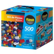Rasti Kit De 500 Piezas Básicas Libre Armado Ladrillos Local