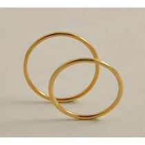 Par Alianzas Casamiento Compromiso Hilo Oro 18 Kt