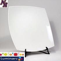 Plato Playo Cuadrado Luminarc -quadrato- X6 Unidades