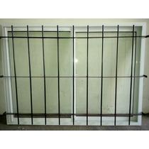 Ventana Aluminio Blanco Con Reja 150x110 Y Te Lo Llevamos