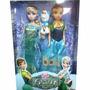 Frozen Muñecas Anna Y Elsa Con Olaf Articuladas 29cm Fiebre