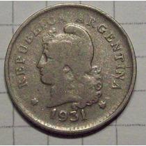 Argentina Niquel 10 Centavos 1931 Fecha Escasa