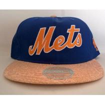 Gorra Visera Plana New York Mets Azul Snapback Regalos