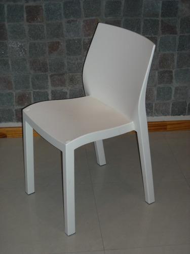 Sillas modelo paris mascardi blancas sin ruedas a for Sillas blancas apilables