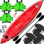 Kayak Atlantikayak Triplo + Chalecos Salvavidas + Cañas +