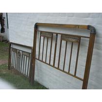Cama Antigua De Bronce, Con Detalles En Relieve