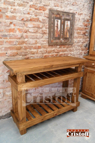 Mesa de arrime estilo country nica muebles cristoff for Muebles estilo country