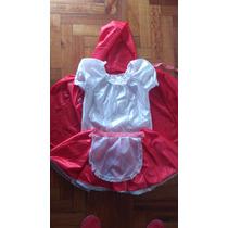 Disfraz Traje Infantil Caperucita Roja Talle 3