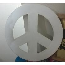 Deco Hogar - Simbolo De La Paz Fibrofacil Pintado
