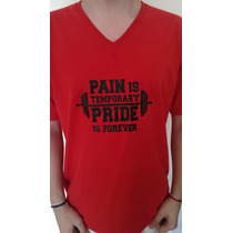 Remeras Gym Gimnasio Fitness No Pain No Gain Y Musculosas