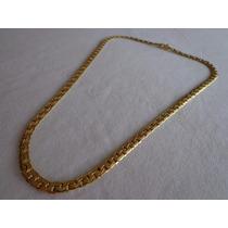 Cadena De Oro 18k, Modelo Eslabones Chatos Trabajados 13.6gr