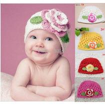 Gorros Tejidos A Crochet De Lana O Algodon Para Bebes Y Niña