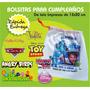 Bolsitasp/cumple Con Foto Impresa Frozen Minions Peppa Pig