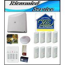 Kit De 8 Zonas Con Llamador Telefónico De X-28 Alarmas