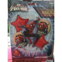 Bouquet De 5 Globos Hombre Araña Y Toy Story