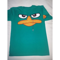 Remera Phineas And Ferb Talle 14 Xl Disney Store Usa