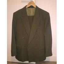 Traje De Hombre - Ambo Roland Cotton Verde Oscuro Cruzado