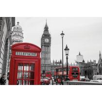 Londres En Tela Canvas 120x80 Cm Exelente Calidad
