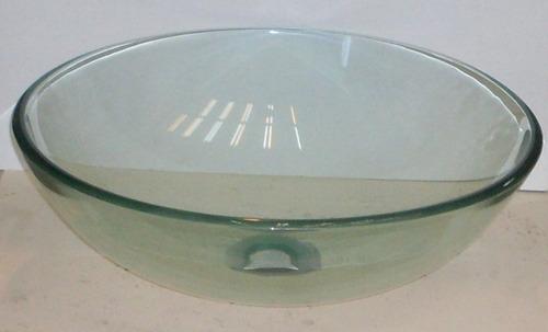 Bachas Para Baño De Vidrio:Bacha Baño Redonda Apoyo Sevilla 41×13 Cristal De 12mm (Vidrio) a ARS
