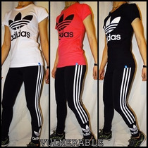 Calza Y Remera Adidas Originals Mujer (combo)