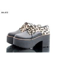 Zapato Botineta C/ Plataforma- Leopardo-rebajas Invierno