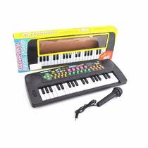 Teclado Organo Con Microfono 37 Teclas Ritmos Melodias Radio