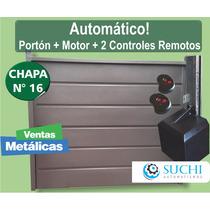 Portón Levadizo Automatico Ch16 Motor Torsion 240x200 Garage