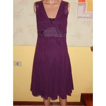Vestido De Fiesta Ann Taylor Loft Talle 2 Color Violeta/lila