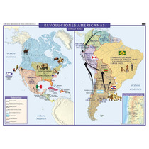 Mapa Mural Histórico - Revolución America Y Europa