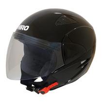 Casco Shiro Abierto Manhathan Sh60 Negro Brillo Devotobikes