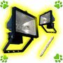 Proyector Reflector Exterior 150w Farol + Lampara Cuarzo