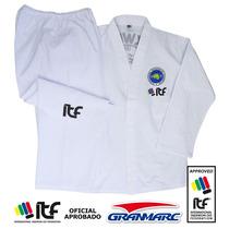 Dobok Taekwondo Itf Especial Estampado De 8oz Talles 7-8-9