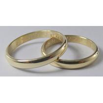 Par Alianzas Oro 18k. Clasicas 4 Grs.certificado De Garantia