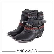 Botas Mujer Invierno Zapatos Anca Y Co Texana Marga