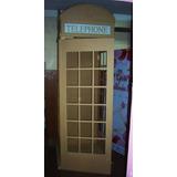 Cabina Telefonica Inglesa, 225 X 80 X 80.