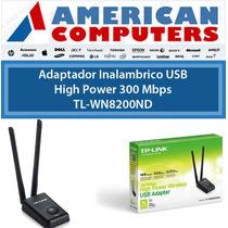 Placa Red Tp Link Usb Wifi 8200nd 2 Wats Largo Alcance