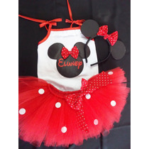 Conjunto Tutu Cumpleaños 1 Al 8 Minnie