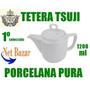 Tetera Tsuji Octogonal Hezagonal 550 Porcelana Cafetera Te