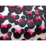 10 Apliques De Minnie Y Mickey En Porcelana Fria