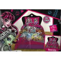 Acolchado Reversible+ Juego D Sabanas Monster High 1380 $